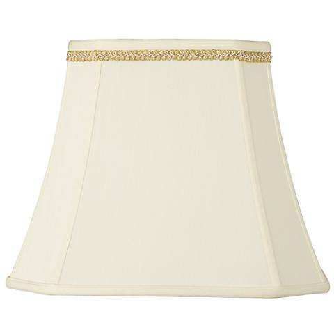 Rectangle Shade with Gold with Ivory Trim 10x16x13 (Spider)