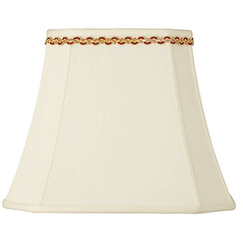 Rectangle Shade with Gold and Rust Trim 10x16x13 (Spider)