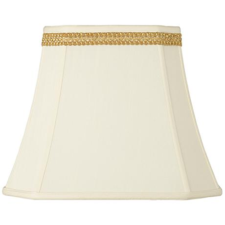 Rectangle Shade with Gold Ribbon Trim 10x16x13 (Spider)