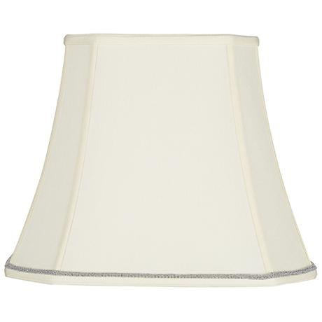Rectangular Shade with Silver Scroll Trim 10x16x13 (Spider)