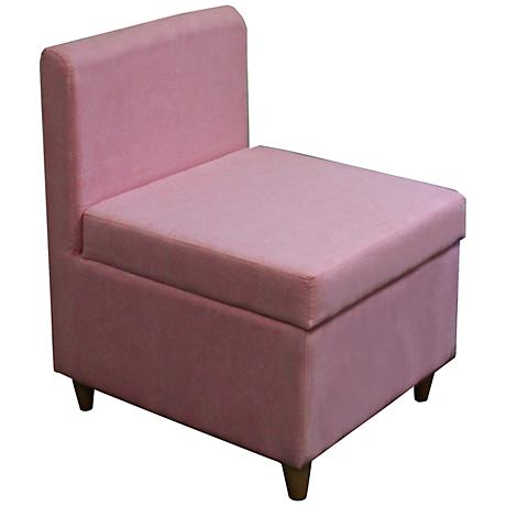 Marley Pink Upholstered Storage Accent Chair