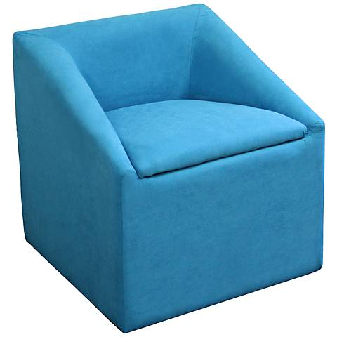 Eliza Blue Upholstered Storage Accent Chair