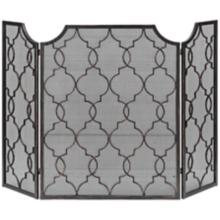 Uttermost Charlie Hand-Forged Metal Fireplace Screen