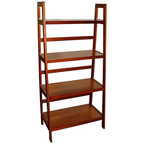 Jasper Walnut 4-Tier Ladder Shelf