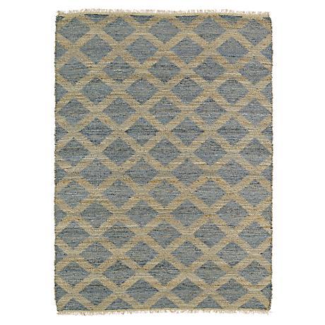 Kaleen Kenwood KEN05-103 Slate Gray Lattice Jute Area Rug