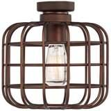 Cage Industrial Oil-Rubbed Bronze Ceiling Fan Light Kit
