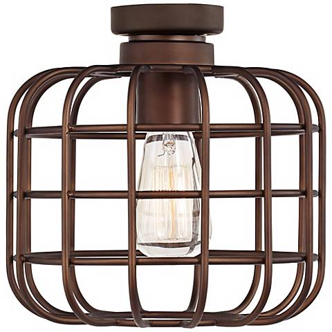 Cage Industrial Oil-Rubbed Bronze Ceiling Fan Light Kit