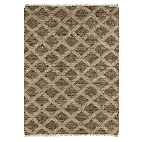 Kaleen Kenwood KEN05-40 Chocolate Brown Jute Area Rug