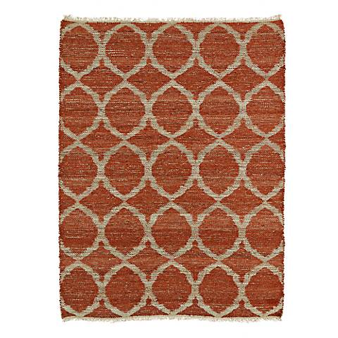 Kaleen Kenwood KEN06-30 Rust Orange Jute Area Rug