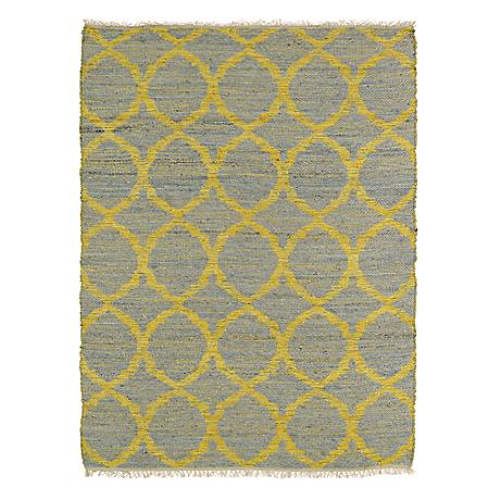 Kaleen Kenwood KEN06-75 Yellow and Gray Jute Rug