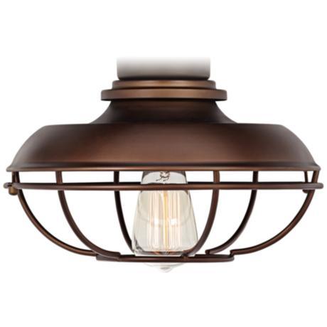 franklin park oilrubbed bronze damp ceiling fan light kit,