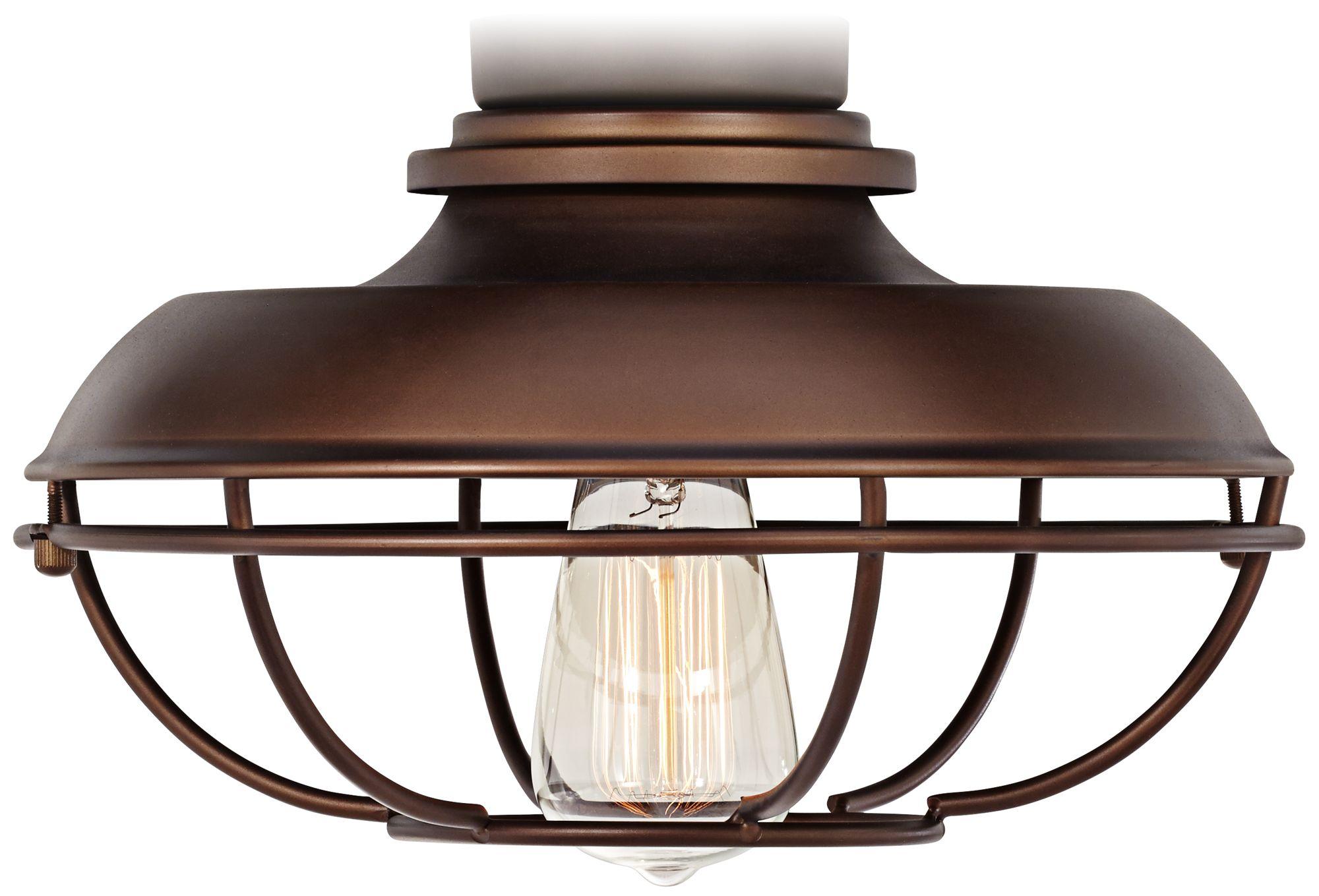 franklin park oilrubbed bronze damp ceiling fan light kit