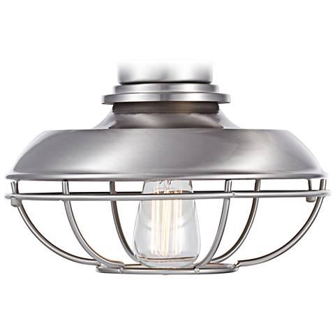 Franklin Park Brushed Nickel Damp Ceiling Fan Light Kit