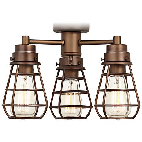 Bendlin Industrial Oil-Rubbed Bronze Ceiling Fan Light Kit ...