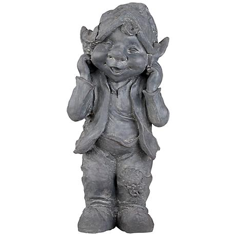 """Standing Gnome 15 1/2"""" High Outdoor Statue"""