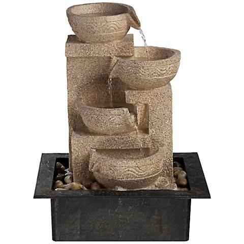 "Valentina 15"" High Four-Tier LED Table Fountain"