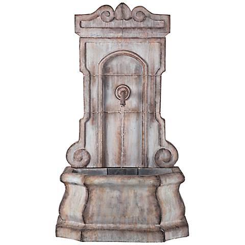 "Hilgarth Faux Stone 52 1/4"" High Tall Outdoor Wall Fountain"