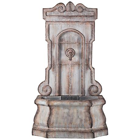 "Hilgarth Faux Stone 52 1/4"" High Tall Outdoor Wall Fountain"