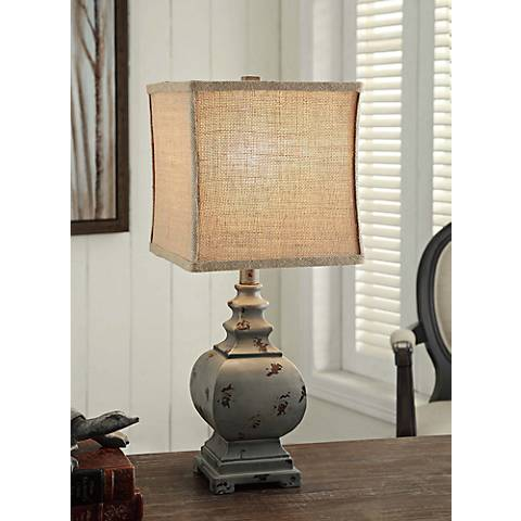 Crestview Collection Grayson Rustic Blue Accent Lamp