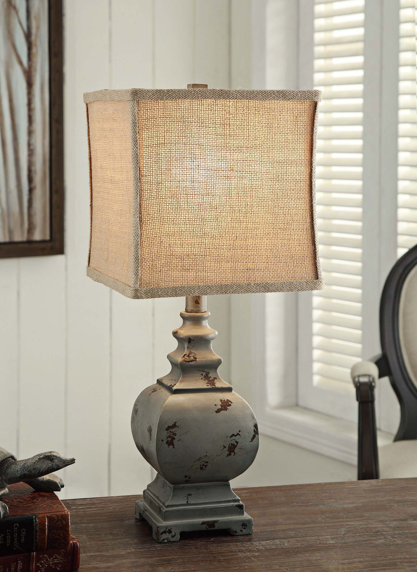 Attractive Crestview Collection Grayson Rustic Blue Accent Lamp