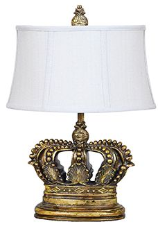 Crestview Collection Crown Gold 3 Way Table Lamp