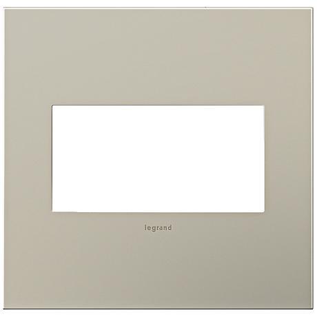 adorne® 2-Gang Satin Nickel Wall Plate
