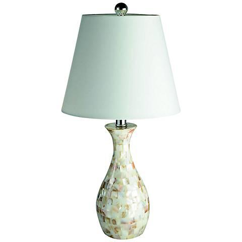 Malibu Capiz Seashell Finish Mosaic Table Lamp