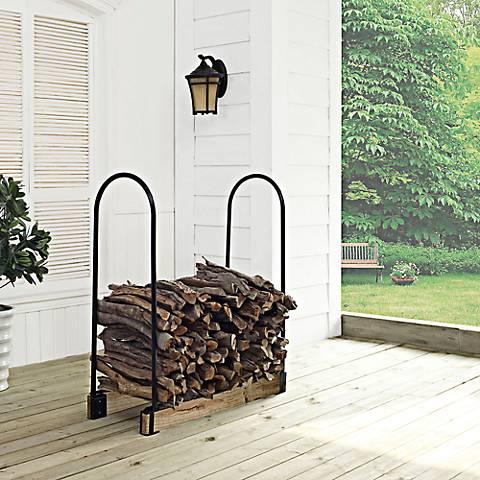 Hartman Tubular Steel Adjustable Outdoor Firewood Rack
