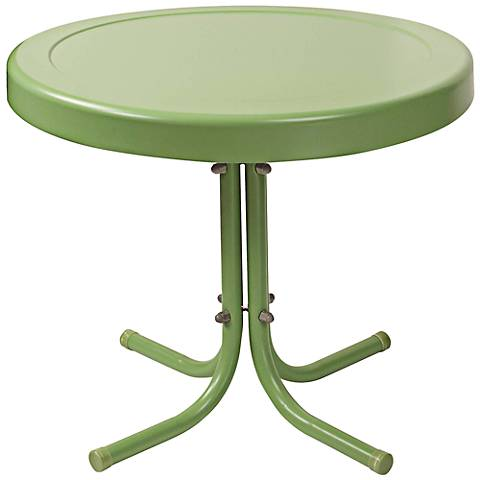 Griffith Oasis Green Powdercoat Round Outdoor Side Table