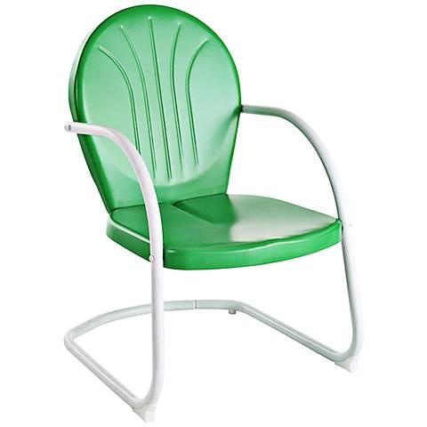 Griffith Nostalgic Grasshopper Green Metal Outdoor Chair