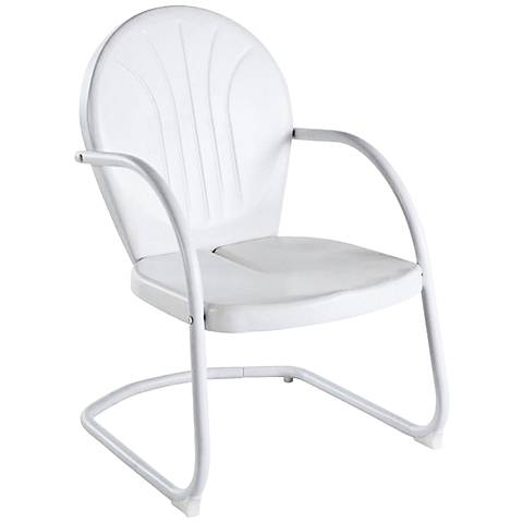 Griffith Nostalgic Crisp White Metal Outdoor Chair