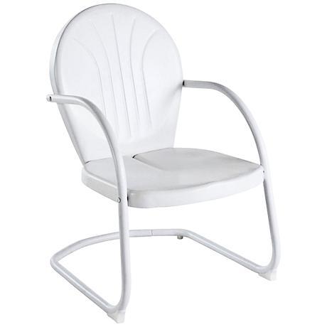 Griffith Nostalgic Crisp White Metal Outdoor Chair
