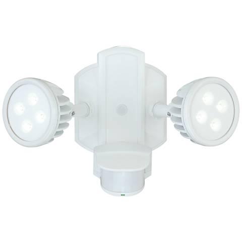 """Lambda 12 1/2""""W LED White Motion Sensor Security Floodlight"""