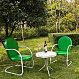 Griffith 3-Piece Grasshopper Outdoor Table and Chairs Set