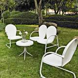 Griffith 4-Piece White Metal Outdoor Seating Set