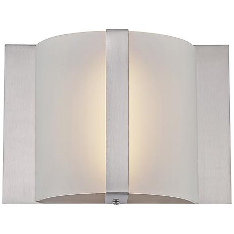 """Lite Source Waldo LED 8 1/2""""W Frosted Glass Wall Sconce"""