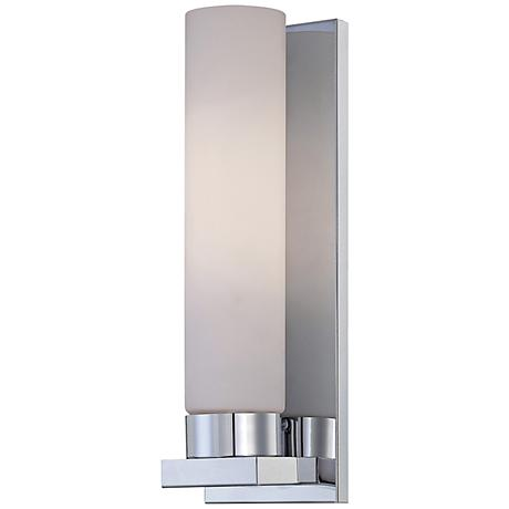 "Lite Source Kayla 13 1/2"" High Frosted Glass Wall Sconce"