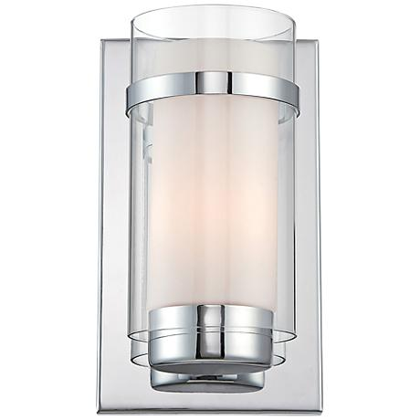 """Lite Source Tulio 10"""" High Contemporary Glass Wall Sconce"""