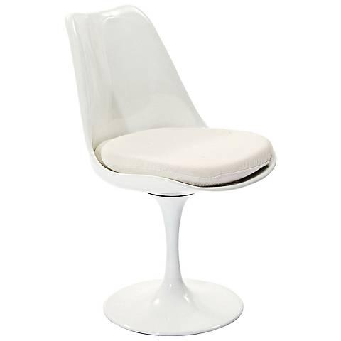 Lippa Modern White Dining Side Chair