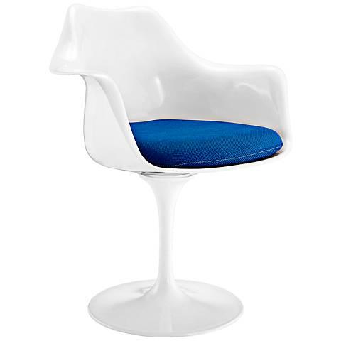 Lippa Modern Blue Dining Armchair