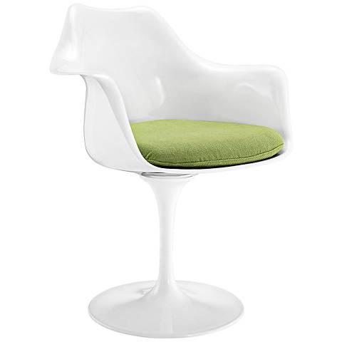 Lippa Modern Green Dining Armchair