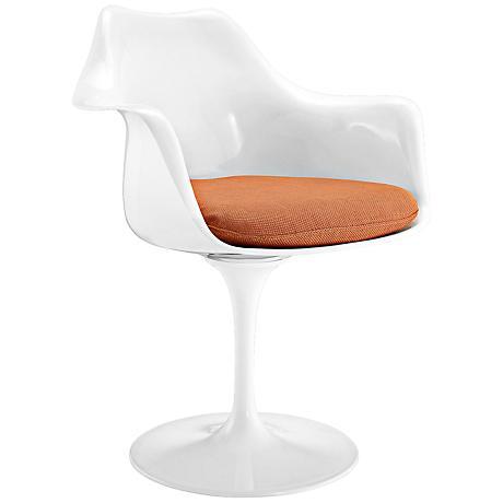 Lippa Modern Orange Dining Armchair