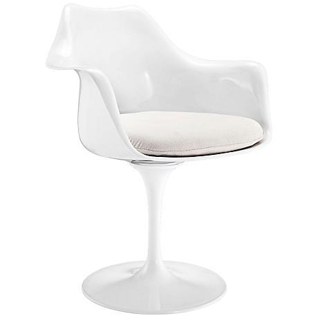 Lippa Modern White Dining Armchair