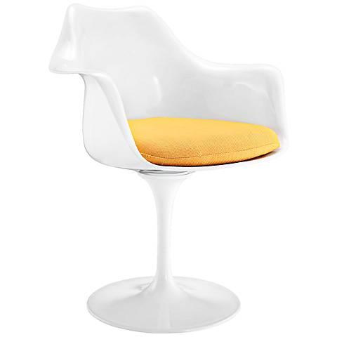 Lippa Modern Yellow Dining Armchair