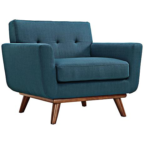 Engage Azure Tufted Modern Armchair