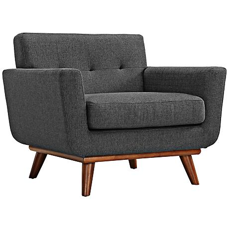 Engage Gray Tufted Modern Armchair