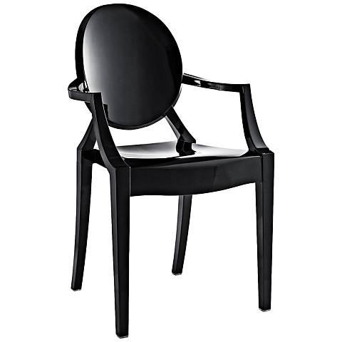 Casper Molded Black Indoor/Outdoor Dining Armchair
