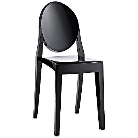 Casper Molded Black Indoor/Outdoor Dining Chair