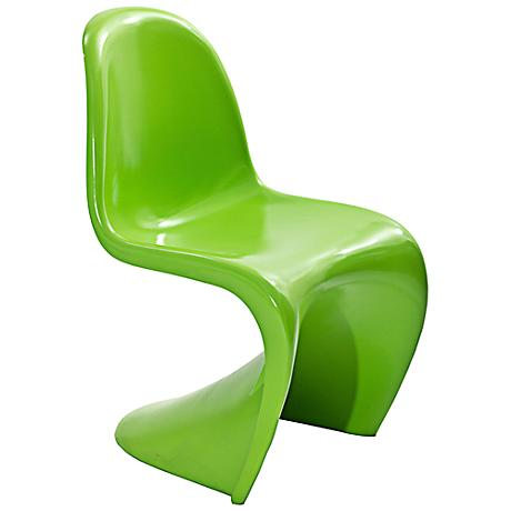 Slither Molded Green Dining Side Chair