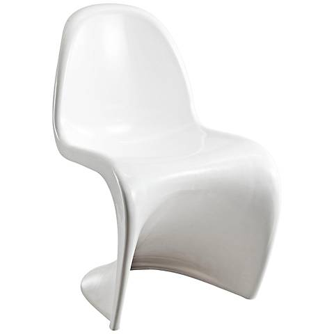 Slither Molded White Dining Side Chair